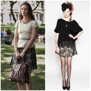 Alice + Olivia high waist polka dot skirt 0